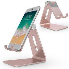 Adjustable Cell Phone Stand, OMOTON Aluminum Desktop Cellphone