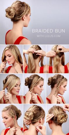 Double Braid Bun - Fun and Simple Hairstyle to Try this Summer! #hairdo #tutorial #pictorial #updo