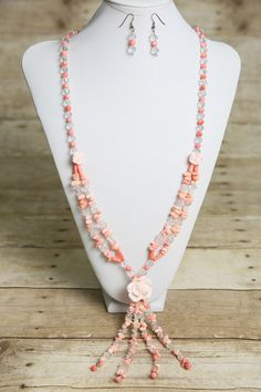 Hey, I found this really awesome Etsy listing at https://www.etsy.com/listing/182308404/pink-coral-and-glass-beaded-necklace-and