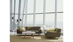 Cini Boeri Sofa w/Castors - Boucle, Chartreuse - Design Within Reach