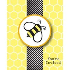 Bee Party Invitations (8 Pack)