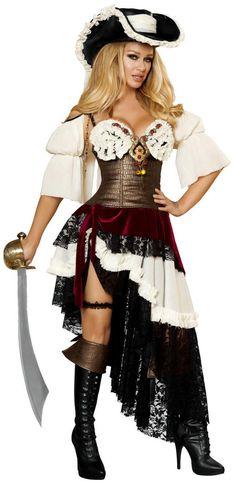 Sexy Pirateer Costume 4422 Roma Pirate Costume