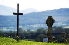 The Famine Cemetery in Tipp Town. The Halloween series will catch up soon. Halloween Series, Cemetery, Wind Turbine, Irish, Image, Irish Language, Ireland