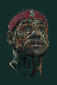 Image of Nike Swoosh Portraits of Paul Rodriguez, LeBron James and Tiger Woods