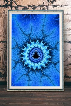 Blue Mandelbrot Fractal, modern Math Art for your Home Decor and Interior Design needs. Check out more than 500 Fractals here: http://matthias-hauser.pixels.com/collections/fascinating+fractals Available as poster or print (framed, canvas, metal, acrylic) with 30 days money back guarantee on every purchase. (c) Matthias Hauser