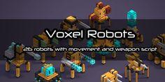 Voxel Robots on Voxel Art Store