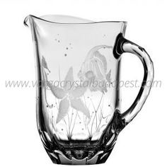 Pacifica Clear Water Pitcher 298€ Whiskey Decanter, Water Pitchers, Luxury Candles, Crystal Collection, Candle Holders, Vase, Crystals, Nautical, China