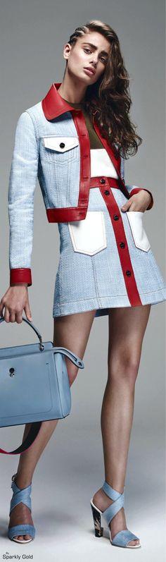 Fendi, Resort 2016 women fashion outfit clothing style apparel @roressclothes closet ideas