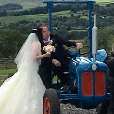 Wedding with a #tractor - all our #couples can use our tractor for great photos  #quirky  #farmwedding