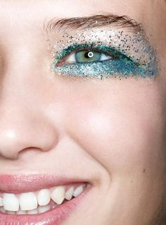 """How To: Get Your Holiday Glow On    """"Try self-tanner in 'light' before opting for 'dark' so the look is more natural.""""  According to Burton, adding glitter over top of makeup will modernize your sparkly eyes."""