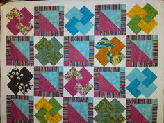 """bright card trick Quilt by """"newjeepgreen"""" from the quiltingboard.com"""