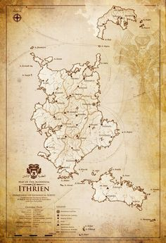 Map of the Audhdom of Ithrien by gingertom84 on DeviantArt