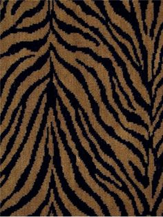 "Cat Velvet 177E Tiger - Tiger jacquard pattern velvet from La France Velvets - Thick and soft with acrylic backing. Perfect for upholstery fabric, ottomans, headboards or cushion covers. poly/cotton. 54"" wide."