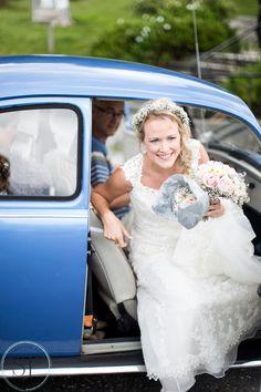 Beautiful bride arriving