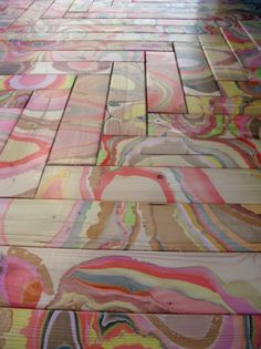marble wood flooring - neat! i'd love to see this in cream, blush pink, with silver or gold!
