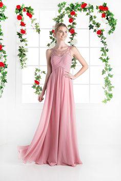 Long Formal Princess Scoop Neckline Evening Prom Dress