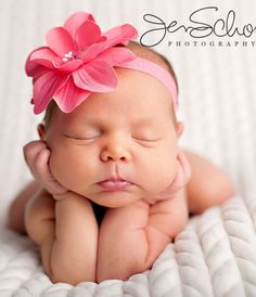 Sweet baby girl - love the headband