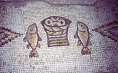 Bread and Fish Notes:	Mosaic in Tabgha, Israel