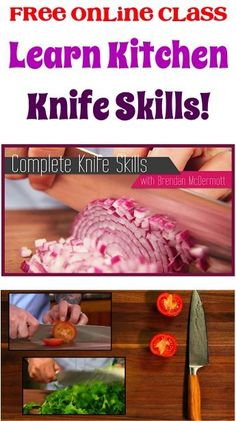 FREE Online Class: Learning Kitchen Knife Skills!  {chopping tips and tricks to make you a superstar in the kitchen!}
