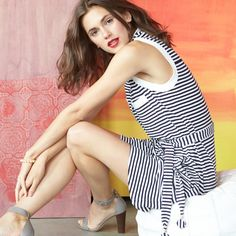 Pair a striped sundress with neutral heeled sandals for a little extra polish.
