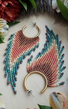 Bead Embroidery Patterns, Beaded Embroidery, Beading Patterns, Seed Bead Patterns, Beading Ideas, Loom Patterns, Beading Supplies, Seed Bead Jewelry, Bead Jewellery