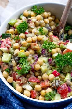 Creamy Chickpea Avocado Salad (Gluten-Free, Vegan)... Switching out the red onion and celery for broccoli is a great option, too.