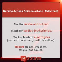 It can treat high blood pressure. It can also treat fluid retention (edema) and high levels of the hormone aldosterone. K sparing diuretic. Nursing School Tips, Nursing Career, Nursing Tips, Nursing Notes, Nursing Schools, Icu Nursing, Nursing Programs, Nursing Information, Rn School
