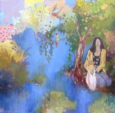 "Saatchi Art Artist: justine formentelli; Acrylic 2014 Painting ""Feeding or Releasing?"""