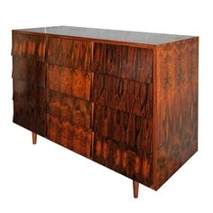 1960's Brazilian Jacaranda Cabinet | From a unique collection of antique and modern cabinets at http://www.1stdibs.com/furniture/storage-case-pieces/cabinets/