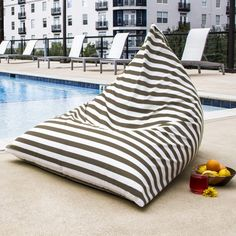 Jaxx Twist Outdoor Bean Bag Chair, Navy Stripes - Works as expected and appears to be well made.Features and specifications of Jaxx Twist Outdoor Bean Bag Chair Bean Bag Lounge Chair, Outdoor Bean Bag Chair, Bean Bag Lounger, Bean Bag Sofa, Patio Lounge Chairs, Dining Chairs, Office Chairs, Side Chairs, Air Chair