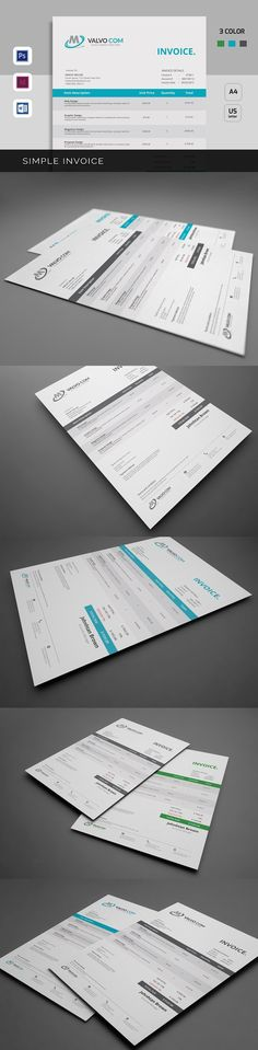 Invoice Stationery templates and Template