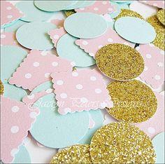 Shabby Chic Glitter Party Confetti