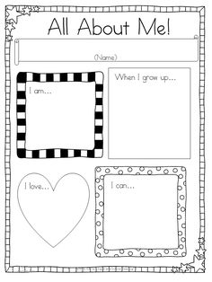 All About Me Writing Prompts -for Kindergarten or First Grade