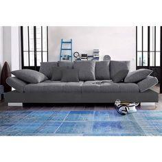 big sofa valeska 310x135 schwarz strukturstoff 12 kissen pinterest wohnzimmer und h uschen. Black Bedroom Furniture Sets. Home Design Ideas