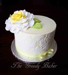 damask cakes pictures | Damask and Rose - by TheGreedyBaker @ CakesDecor.com - cake decorating ...