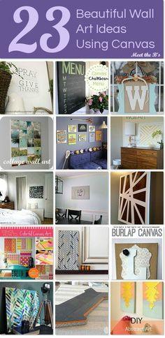 DIY Wall Art Ideas using Canvas