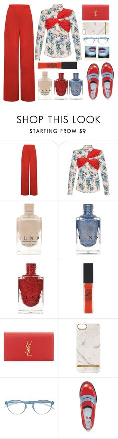 """""""MSGM top"""" by juliehalloran ❤ liked on Polyvore featuring WearAll, MSGM, Maybelline, Yves Saint Laurent, Richmond & Finch, Mykita, MR by Man Repeller and Polaroid"""
