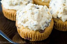 Chocolate Chip Cookie Dough Cupcakes (I want to try these with that yummy chocolate frosting from Mel's Kitchen Café.)