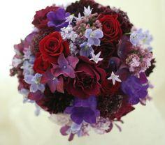 新郎新婦様からのメール ウェスティンホテル東京様へ 白の芍薬、紫のバラ : 一会 ウエディングの花