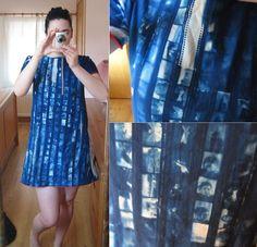 Cyanotype Dress by femtyechrome.deviantart.com on @deviantART