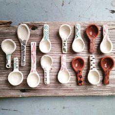 Ordre en gros réservé pour Melissa - cuillères de poterie à la main par l'artiste céramiste Tasha McKelvey