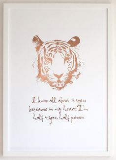 Tiger print All About Tigers, Kids Bed Linen, Gold Foil Print, Tiger Print, Soft Furnishings, Linen Bedding, Kids Bedroom, Copper, Art Prints