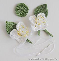Famiglia e arte:  bellissimi fiori a crochet E)