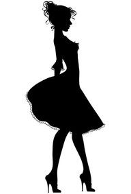 silhouette of sassy girl