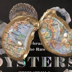 """Custom """"Favorite Places"""" Oyster Shell Jewelry Dish Emma Ricciardone added a photo of their purchase Seashell Art, Seashell Crafts, Beach Crafts, Oyster Shell Crafts, Oyster Shells, Rock Crafts, Fun Crafts, Shell Jewelry, Jewelry Dish"""