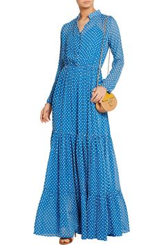 Shop on-sale Saloni Alexia Swiss-dot chiffon maxi dress. Browse other discount designer Dresses & more on The Most Fashionable Fashion Outlet, THE OUTNET.COM