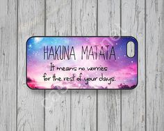 Galaxy iPhone 5 case Disney iPhone 5s case Hakuna Matata Quotes iPhone 4s case iPhone 5c case lion king iPhone 4 case Quotes iPhone case -60
