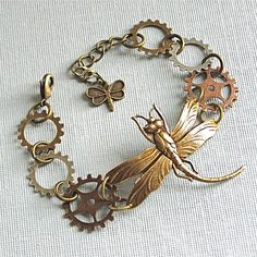 Hey, I found this really awesome Etsy listing at https://www.etsy.com/listing/89502289/steampunk-dragonfly-bracelet-brass-mixed