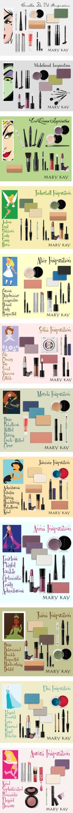 Oh. My. Goodness.  I love Disney and I LOVE these looks that can be achieved with these awesome Mary Kay products!  Shop with me online to earn some awesome perks!  Free shipping on order over $75 and a FREE Deluxe Mini gift when you spend at least $40!  https://www.marykay.com/aturner12491