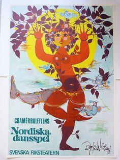Bjorn Wiinblad Poster Nordic Dansspel 1967 by planetutopia